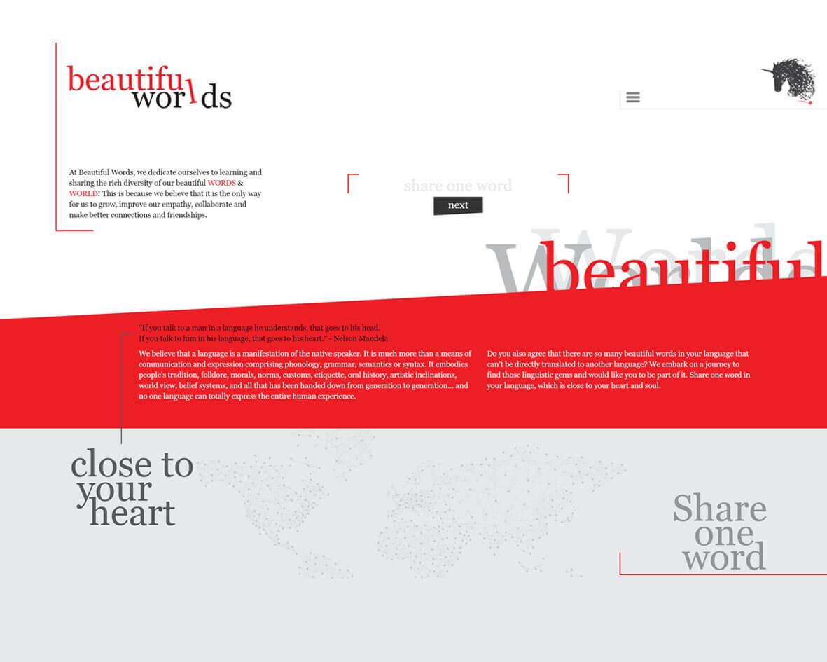 Beautiful Words DigiGround Work